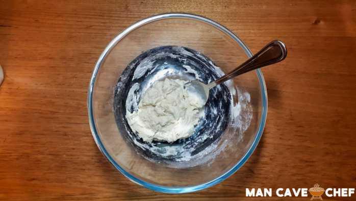 Mixing Okonomiyaki batter