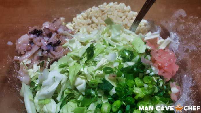 Okonomiyaki ingredients