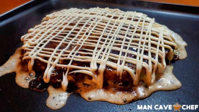Okonomiyaki mayonnaise pattern