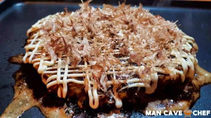 Okonomiyaki with Bonito flakes