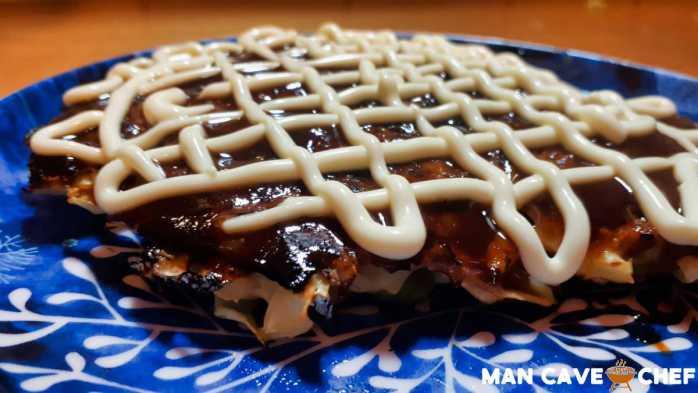 Plated Okonomiyaki