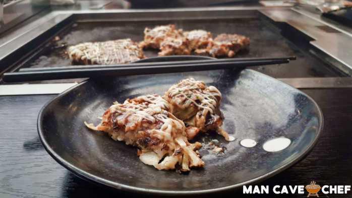 Okonomiyaki after cooking
