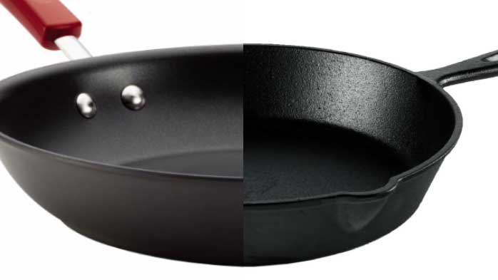 Non-stick vs Cast Iron Pans