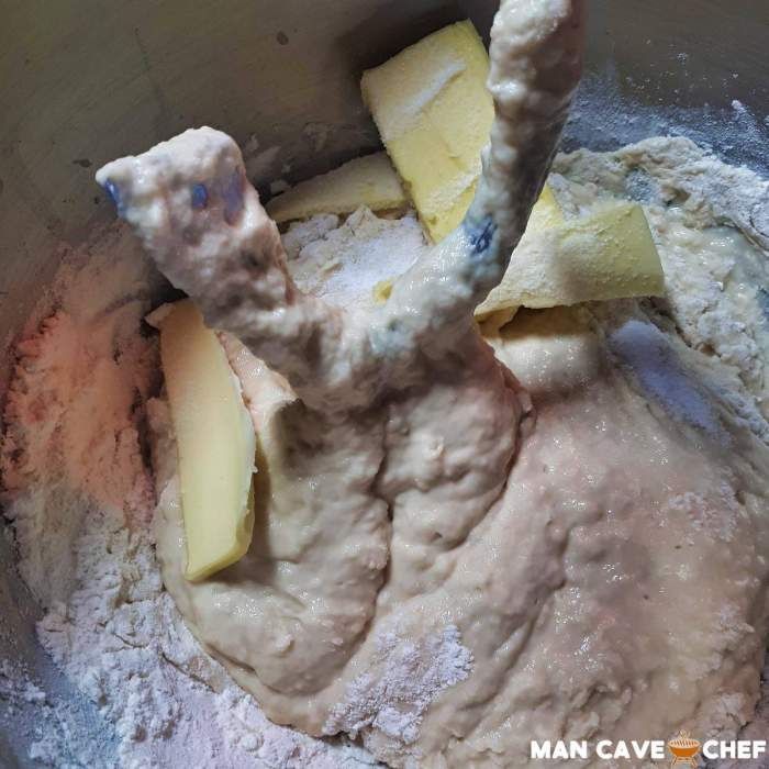 Add butter to mixer