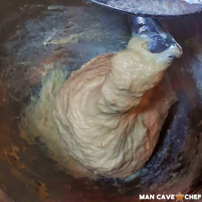Dough in mixer