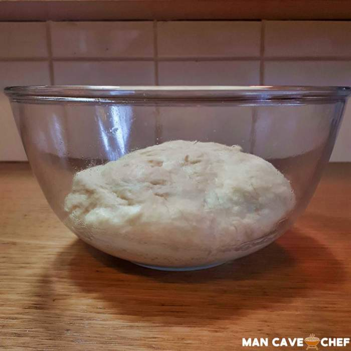 Burger Bun Dough in oiled bowl