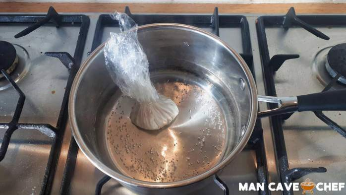 Poached egg cling wrap 6